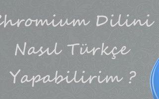 Linux Chromium Türkçe Dil Paketl